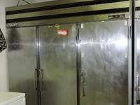 (1) Beverage-Air 3-door stainless-steel freezer with