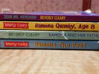 4 books by Beverly Cleary. Dear Mr. Henshaw, Ramona