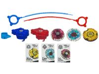 Customize the 3 Beyblade battle tops in the Team Star
