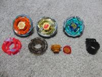 3 Beyblades and accessories. Great Condition. Earth