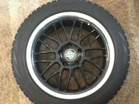 "Offering 4 Beyern 18""rims with Bridgestone Blizzak WS60"