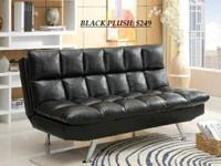 BEYOND PLUSH FUTON BLACK ADJUSTABLE PLUSH PILLOW FUTON