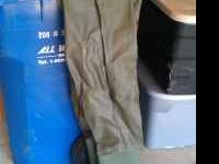 Old set of waders for fishing, shoe size 10. Don't