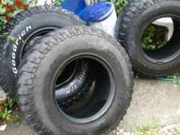 i got 3 bf goodrich mud terrain tires 2 r in good