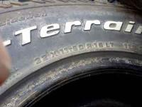 I am selling 4 BFG AT tires 32x11.50 R15 with about 1/2
