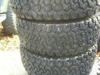 Set of (4) BR Goodrich All Terrains with Great Tread