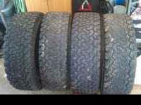 i have a set of 4 bfg all terrains 2 half tread the