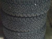 4 BFGoodrich AT in very good shape with about 10,000