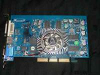 Great working AGP video card, comes with Drivers on