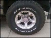 bfgoodrich 32x11.50 r15 rims & Tires like new Tires 95%