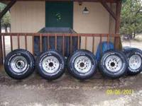 4- BFGoodrich All-Terrain T/A 35's with 16.5 rims with