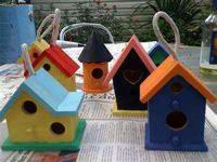 HAND PAINTED BIRHOUSES, PLAQUES, PHOTO CUBES,