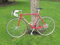 Vintage Bianchi road bike in great condition, preparing
