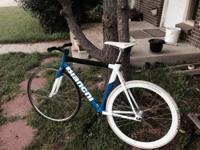 Rare Blue and white 55cm Bianchi Super Pista Concept.