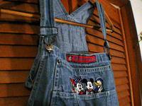 "Bib overalls, Mickey Mouse, size medium, 40"" waist 26"""