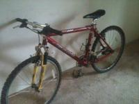 Mountain bike. Needs new tires and tubes. Call Jason at