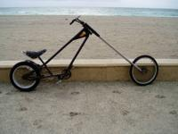 "This is an adult chopper bicycle, it is 9'4"" long and"