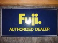 Fuji Dealer Sign This original factory supplied sign