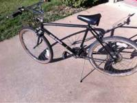 Older adult mtn bike with taller frame, tires hold air,