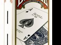 Single deck of poker-sized playing cards Regular index
