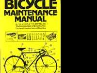 Bicycle Maintenance Manual Used Book - by Eugene Sloan