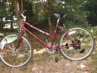 NEW MAROON AUTO TRANS BIKE 7sp COST $1000, ASKING $250