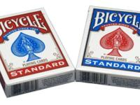 2 New covered deck of cards Poker Size 3.5 x 2.5.