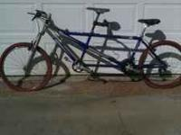 Mongoose tandem bicycle. Rode only twice. $400.00 obo.