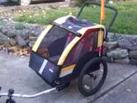 Bicycle Trailer for two also a stroller have only had