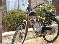New bicycle with 66cc 2 stroke electric motor, speed