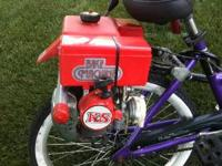 Bicycle with K&S Bike Machine 2-cycle engine automatic