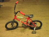 Bicycle - with training wheels Used condition