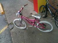 Bicycle for girl perfect condition come see it at 1623