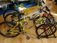 Up for sale we have bicycles brands like Giant Fisher