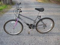 Huffy 26 in, 18 speed, needs front tire and tube. Best