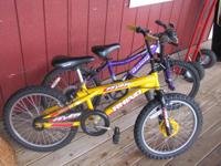"Both 20"" bikes, good tires and in excellent condition."