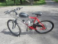 Many bikes for sale with 66/80cc motors on them. Black
