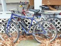 several bicycles for sale: $15 - $55; also exercise