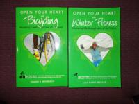2 new books. Open Your Heart With Winter Fitness and