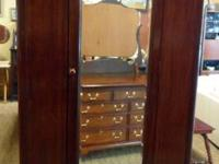 Beautiful mahogany armoire from the early 1900's.  Big