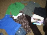 Big garbage bag full of girls clothes sizes 7/8 to