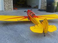 84 inch wingspan spacewalker. Zenoah Gas 23cc engine.