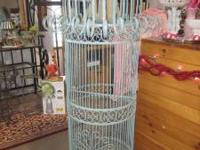 Beautiful, big, robins egg blue bird cage! It is 4 1/2