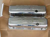 These are Moroso chrome valve covers with baffles