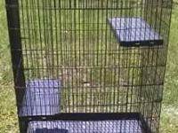 "Big cage for an animal or bird Height 49"" x Width 34"" x"