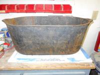 BIG,OLD CAST IRON POT THAT'S  GREAT FOR PLANTS, WOOD,