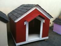 WE HAVE WOOD DOG HOUSES FOR SALE FOR $200 WITH FREE