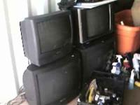 lots of household items. couch, recliners, beds, tv and