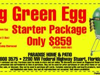 For Sale - 1 Big Green Egg Starter Kit Includes - Large
