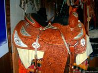 "Western Pleasure saddle,16""  custom made by Big"